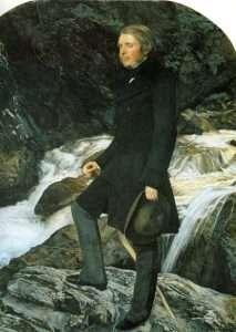 Ruskin portrait by John Everett Millais 1854