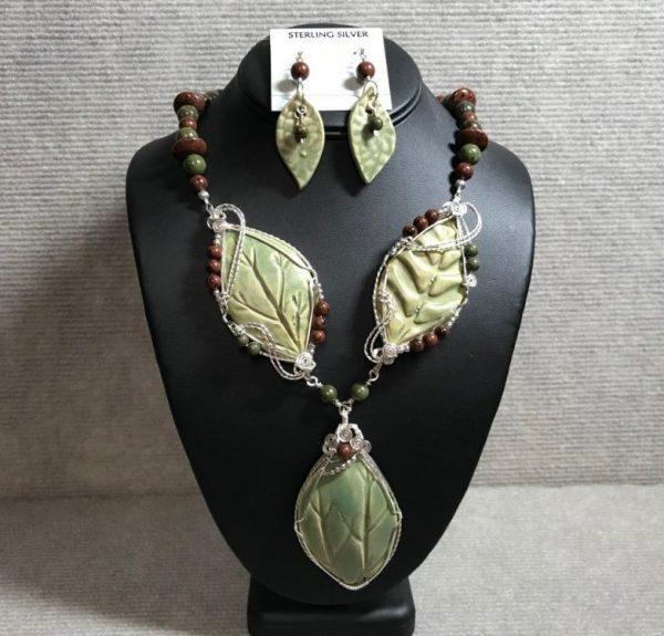 Autumnal Harmony necklace and earrings